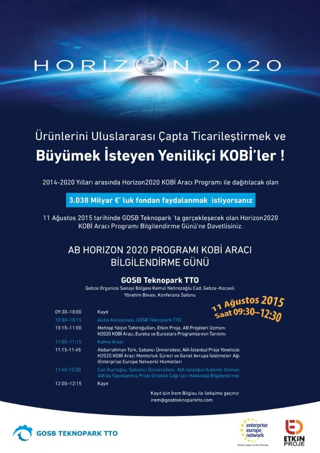 06082015085451 - AB Horizon 2020 Programı Kobi Aracı Bilgilendirme Günü'ne davetlisiniz