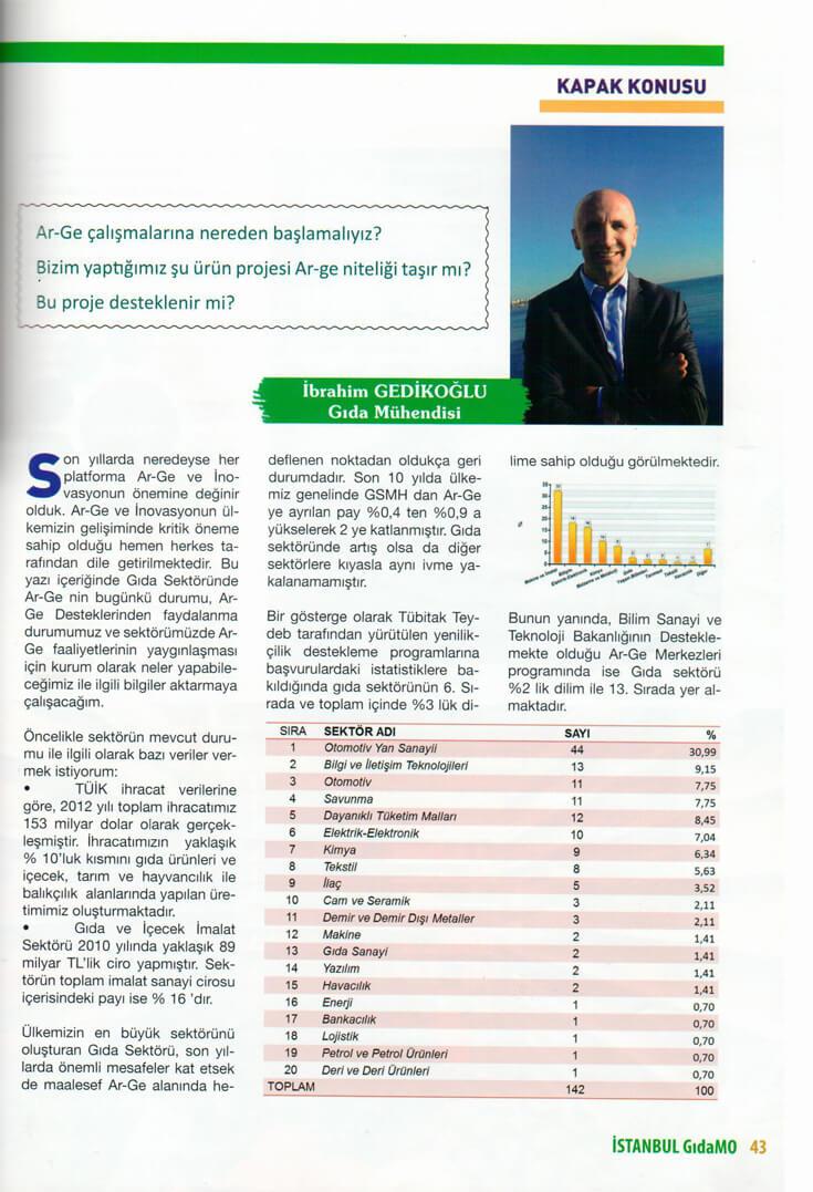 1072014021000 - GıdaMO Dergisi 2013 3.Sayısı Ar-Ge Röportajı Kapak Haber