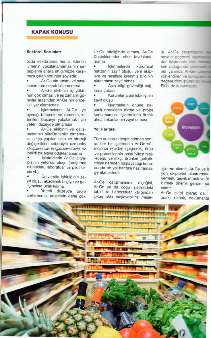 1072014021001 - GıdaMO Dergisi 2013 3.Sayısı Ar-Ge Röportajı Kapak Haber