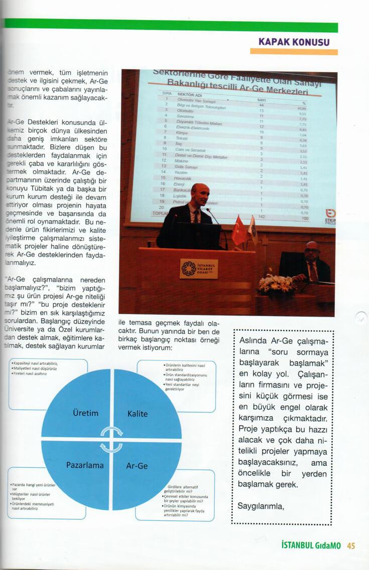 1072014021002 - GıdaMO Dergisi 2013 3.Sayısı Ar-Ge Röportajı Kapak Haber