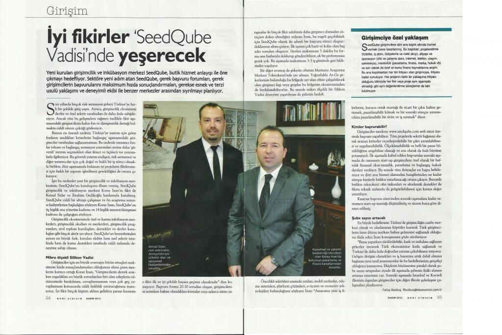 SeedQubeRoportaj 1024x684 - Etkin Proje'nin yeni girişimi SeedQube, Ekonomist Dergisi'ne haber oldu!