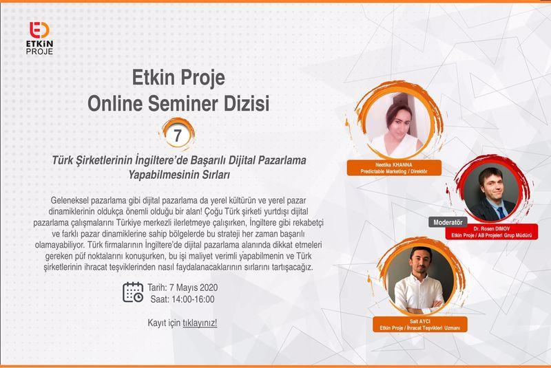 turk sirketlerinin 7mayis webinar - Türk Şirketlerinin İngiltere'de Başarılı Dijital Pazarlama Yapabilmesinin Sırları